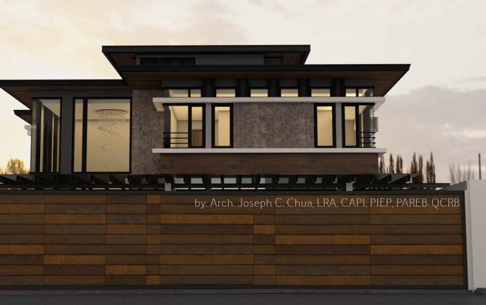2 storey residence with attic by Arch. Joseph C. Chua