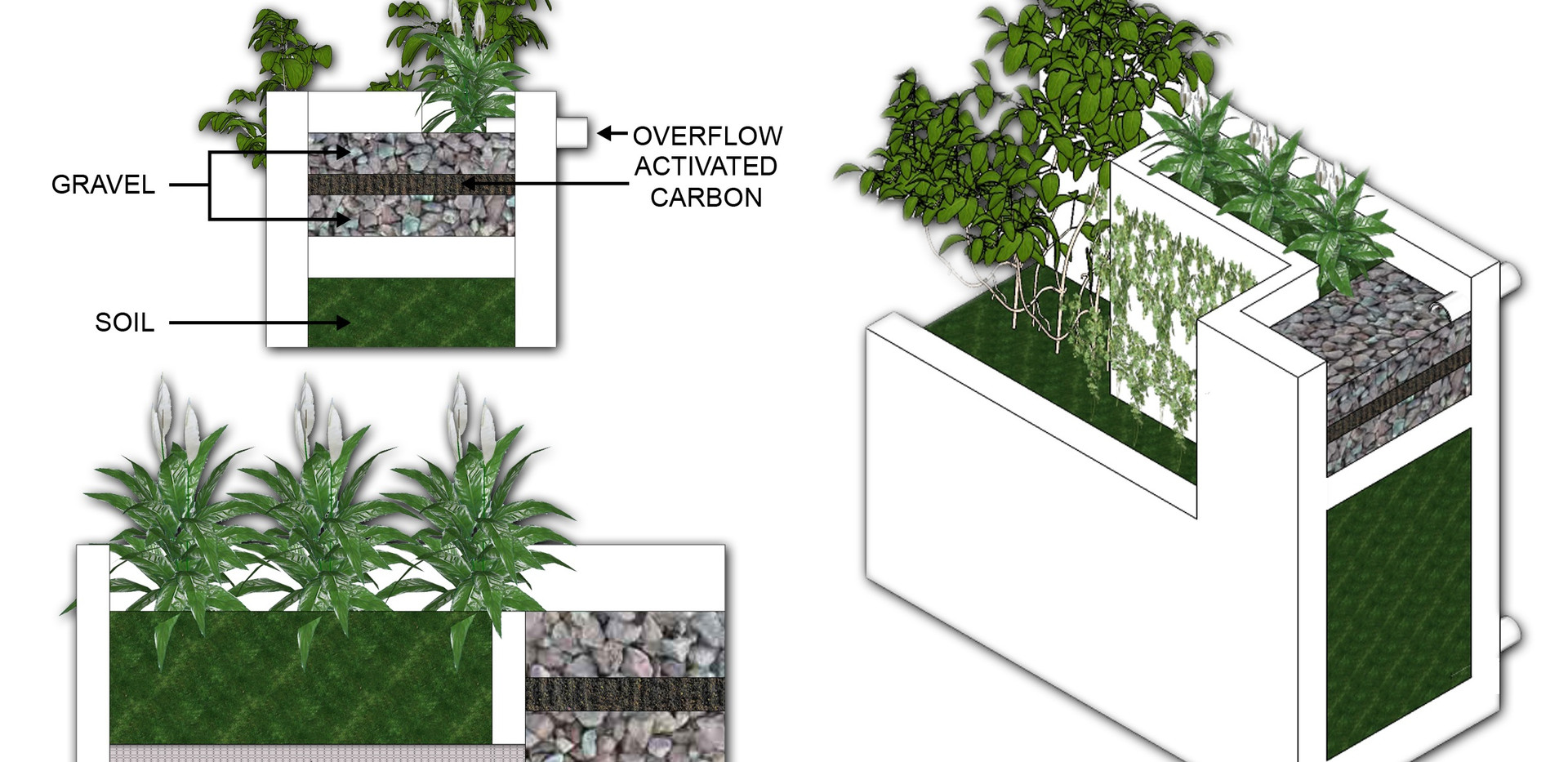 Grey Water collection and filtration system by Arch Joseph C. Chua