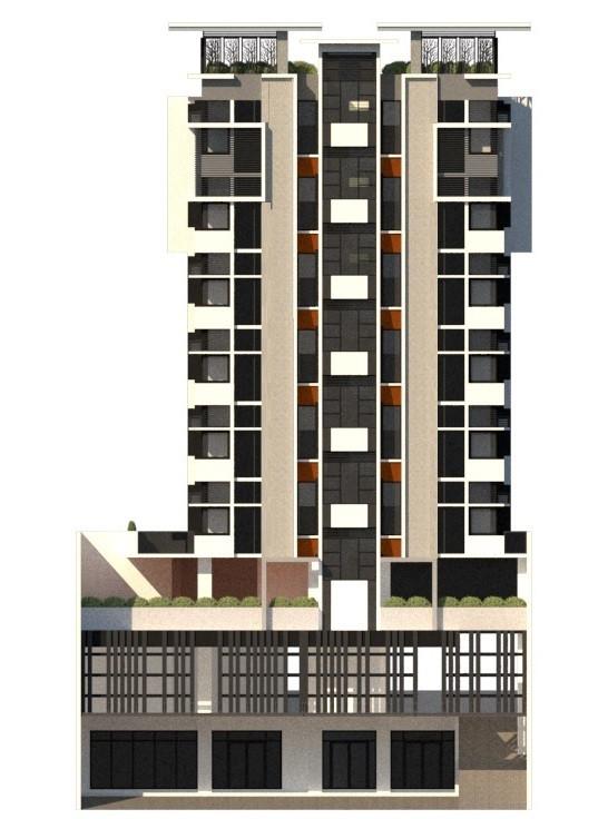 9 storey garden dormitory facade, by Arch Joseph C. Chua
