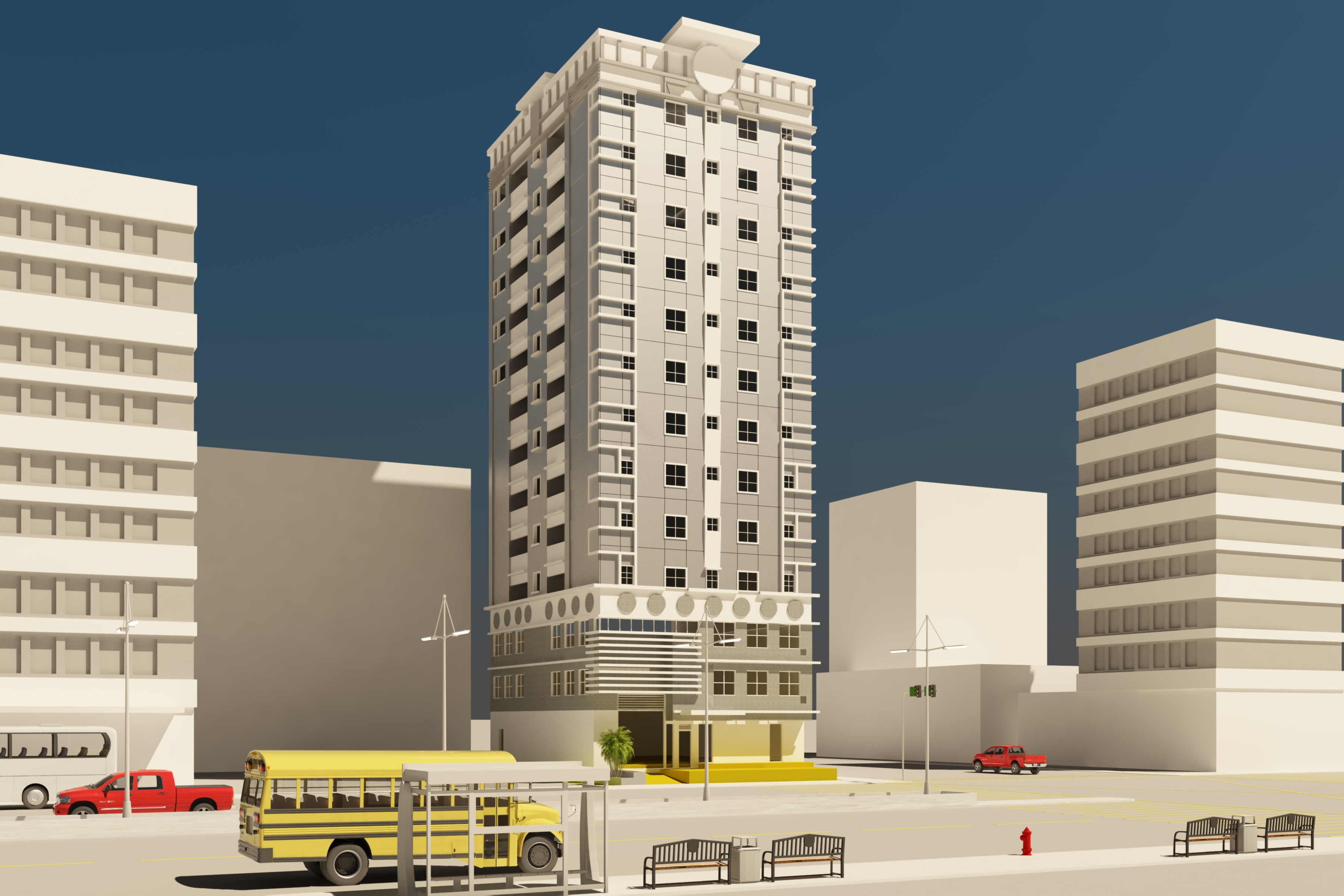 12 storey building along Oroquietta