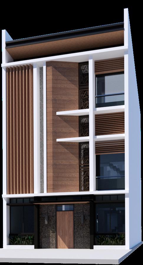 Townhouse renovation facade by Arch Joseph C. Chua