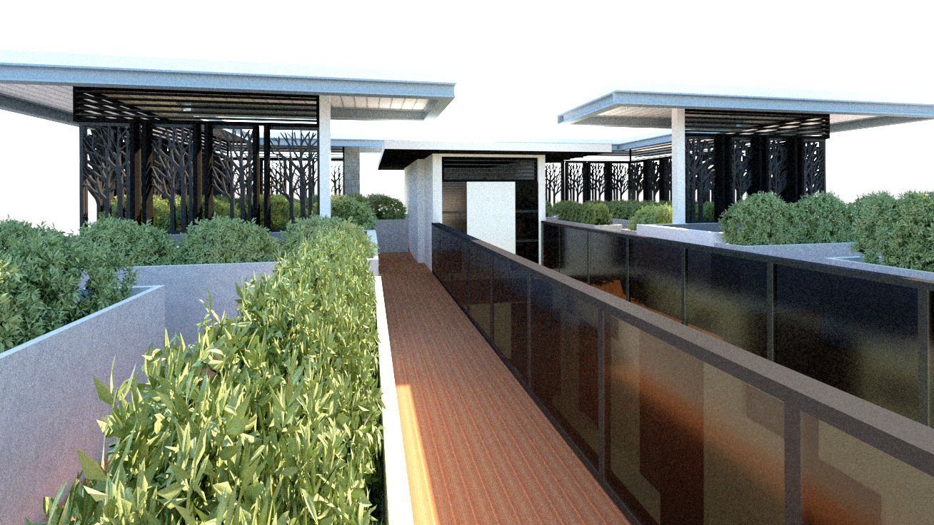Roof deck garden for Garden Dormitory by Arch Joseph C. Chua
