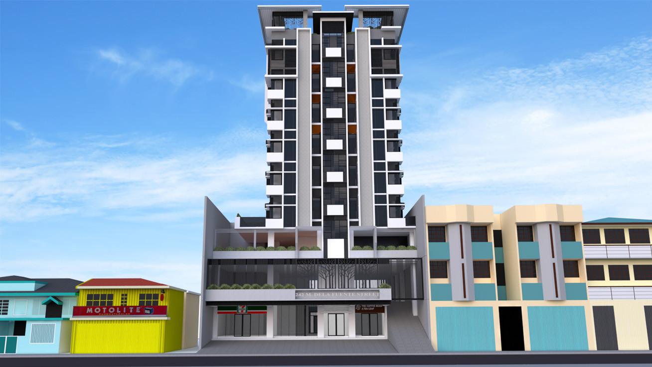 9 storey garden dormitory building by Arch Joseph C. Chua