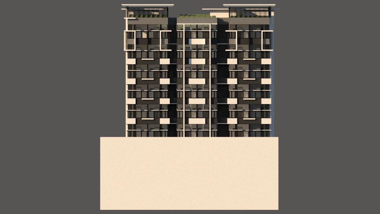 arch joseph chua dormitory Side Elevatio
