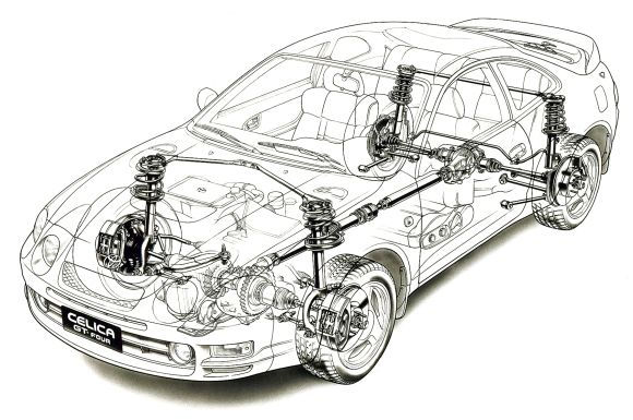 Toyota_Celica_GT-Four_1995_Technical_Dra