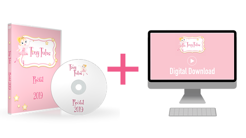 Tiny Tutus 2019 Recital DVD + Digital Download Combo