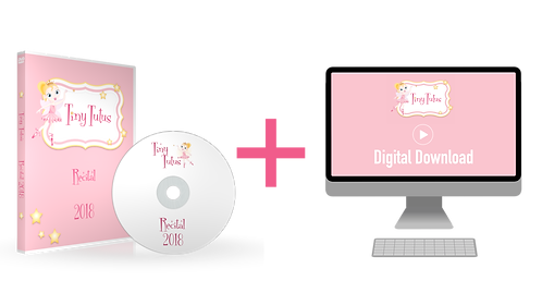 Tiny Tutus 2018 Recital DVD + Digital Download Combo