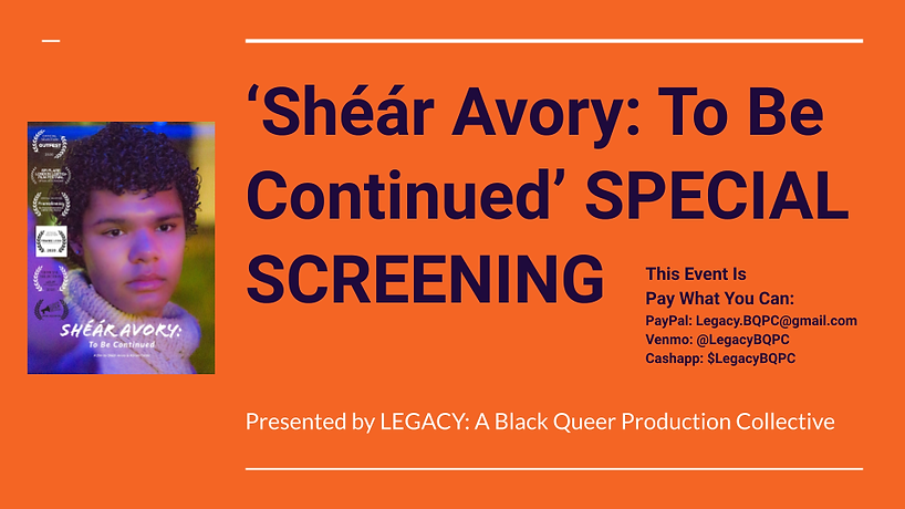 Shéár Avory_ To Be Continued' SPECIAL