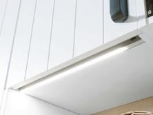 Base shelf with LED handle profile