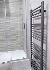 grey towel rail in en-suite bathroom Stirling