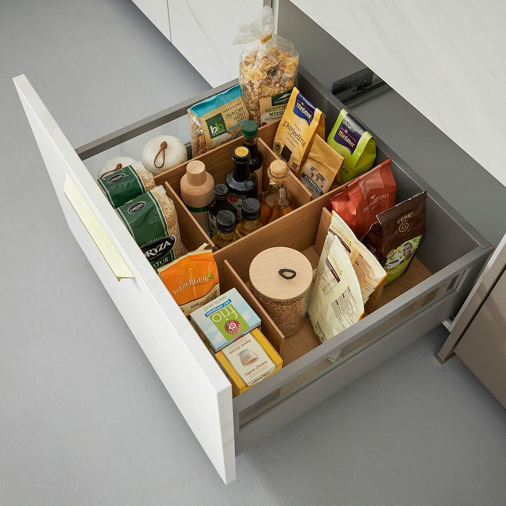 Schüller kitchen drawer wooden flex box storage option