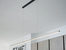 LED pendant light available in stainless steel or onyx black