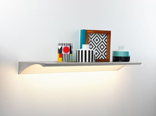 LED illuminated wall shelf Wing
