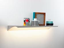 LED illuminated wall shelf Wing