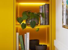 LED light band for open shelf units