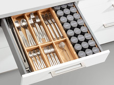 Cutlery and spice insert, natural oak