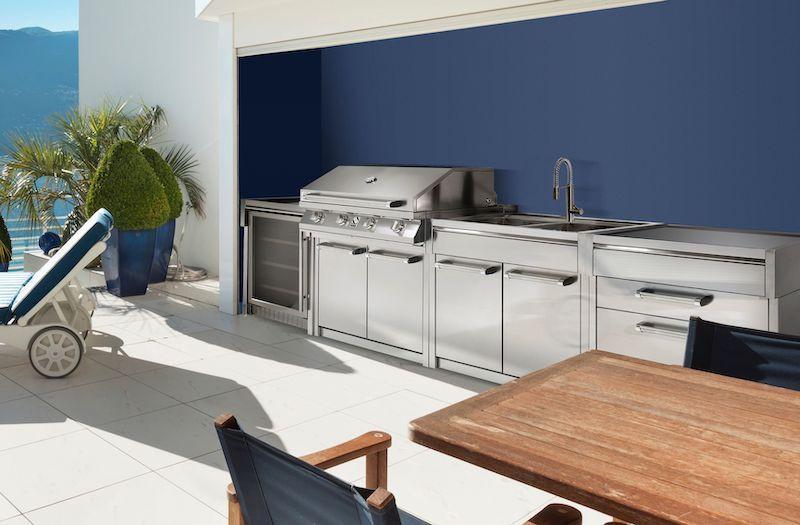 Outdoor Steel Cucine kitchen in luxury garden