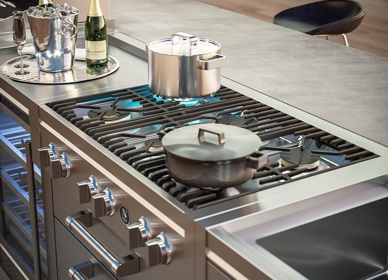 steel cucine outdoor kitchen hob