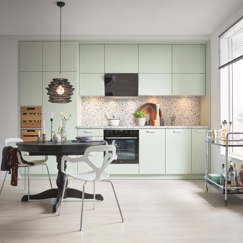 sage green luxury german kitchen
