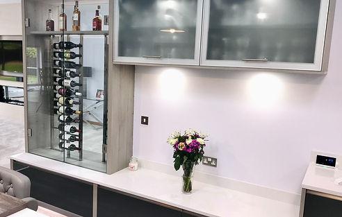 luxury kitchen wine rack