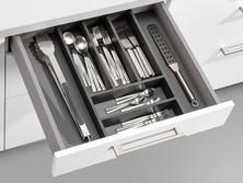 Insert for cutlery, black PVC