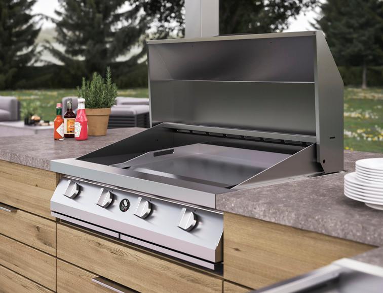 Steel Cucine barbecue in garden