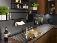 Panel system with onyx black profile