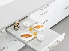 Drawer with pull-out table
