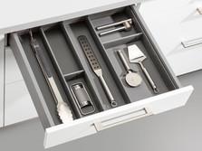 Insert for cooking utenils in laminate black