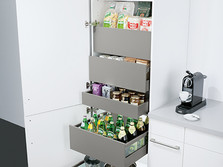 Tall unit with internal drawers and pull-outs