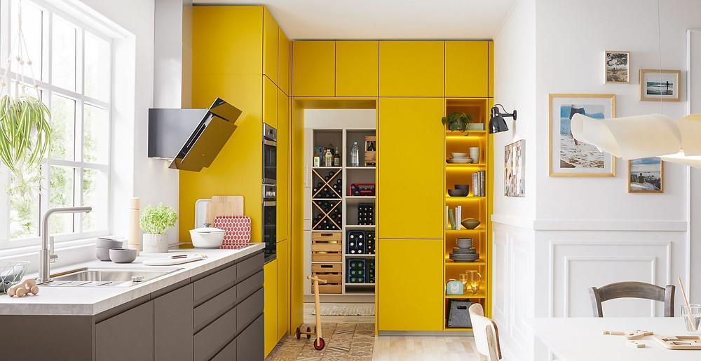 german schuller luxury kitchen with storage pantry