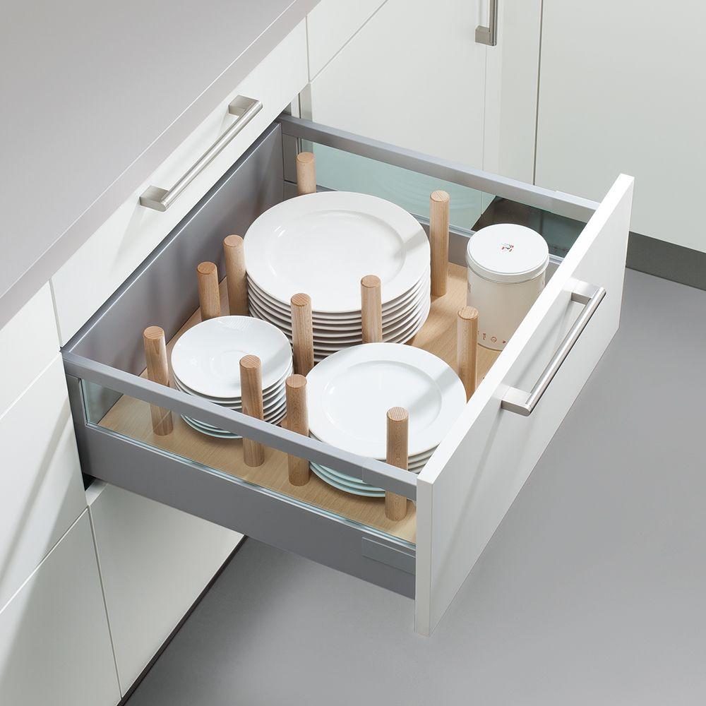 Schüller wooden plate holder kitchen design storage solution