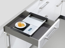 Drawer with integrated scales