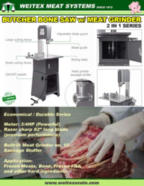 2020 Bone Saw with Meat Grinder Machine