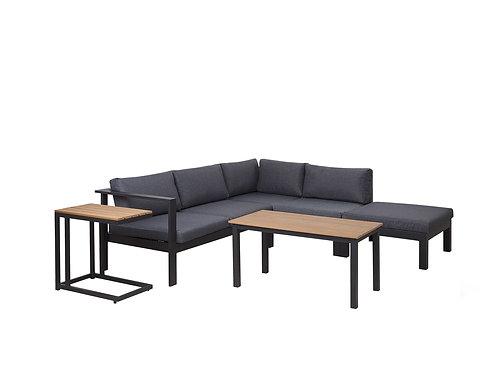 5 Seater Aluminium Garden Corner Sofa Set Grey MESSINA