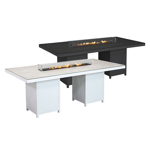 Flame Rectangular Fire Table