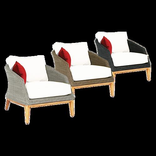 Grace Lounge Armchair  Ebony, Platinum & Sand Frame Sunbrella & Quick Dry Foam