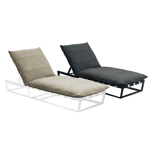 Cloud Lounger White or Charcoal Aluminium Frame Sunbrella & Quick Dry Foam