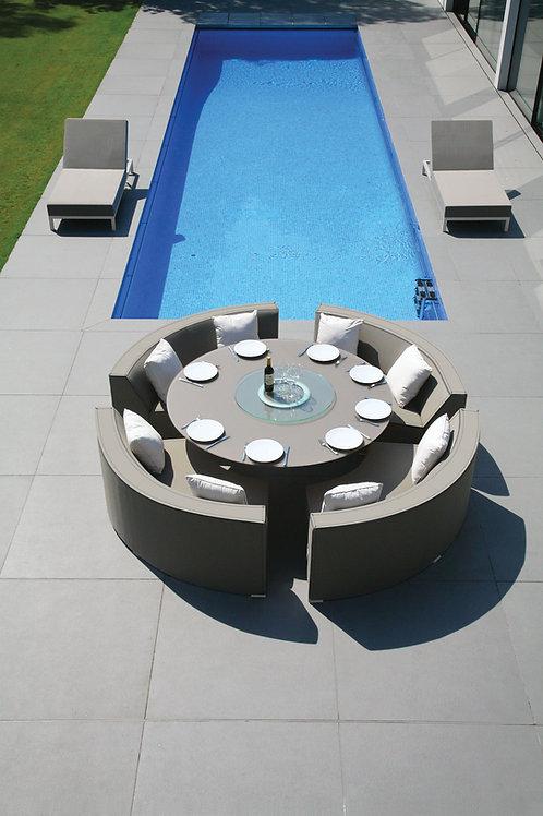 Ocean & Sahara, Ceramic, Sunbrella 180cm Round