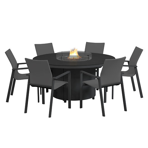 Flame 150 Round Fire Table