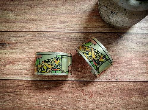 Grasshopper | Metal Bangle Bracelet
