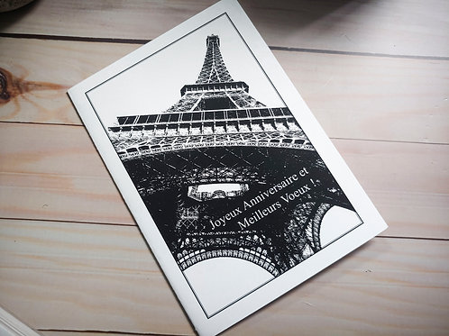 Eiffel Tower...Joyous Birthday | 8 Boxed Greeting Cards