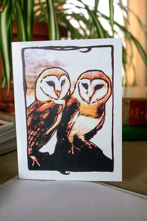 Owls | 8 Boxed Note Cards