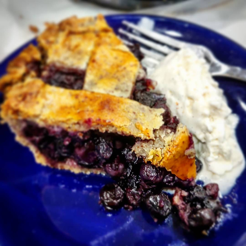 Low-Carb Blueberry Pie