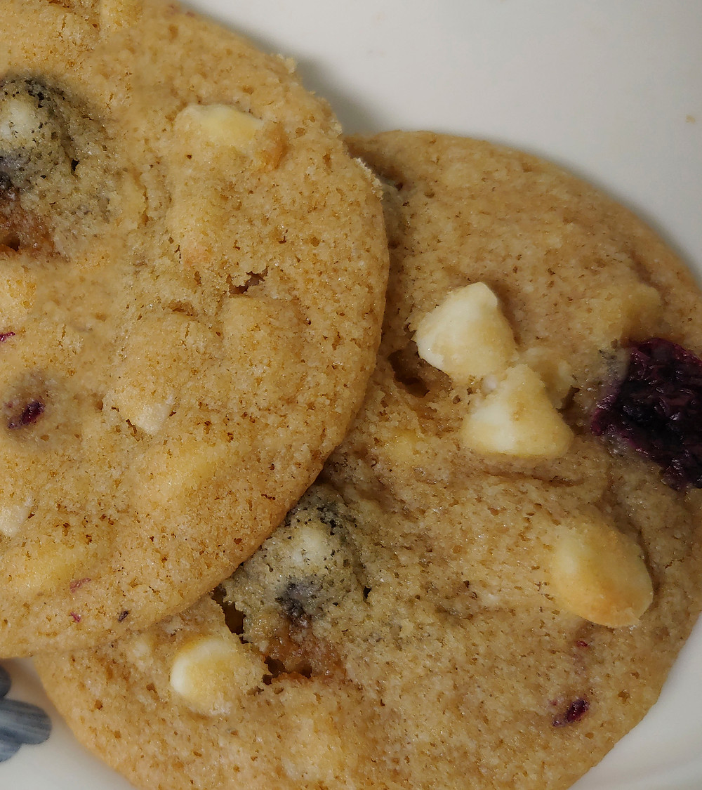 White Chocolate Blueberry Macadamia Nut Cookies Pic