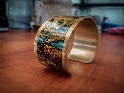 Peacock | Metal Bangle Bracelet