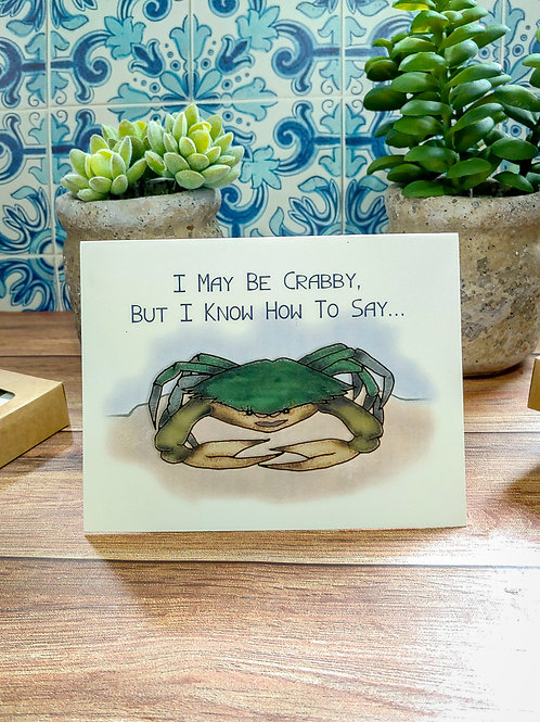 """Crabby """"Thank You"""" 