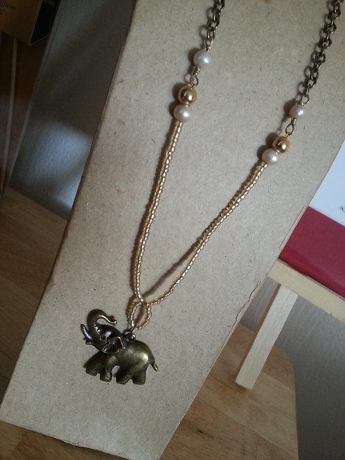 Elephant | Brass Necklace