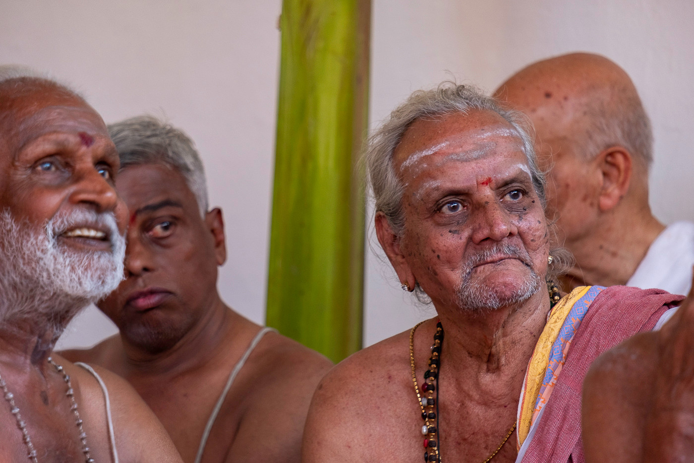 Anciões residentes do Asharam de Ramana