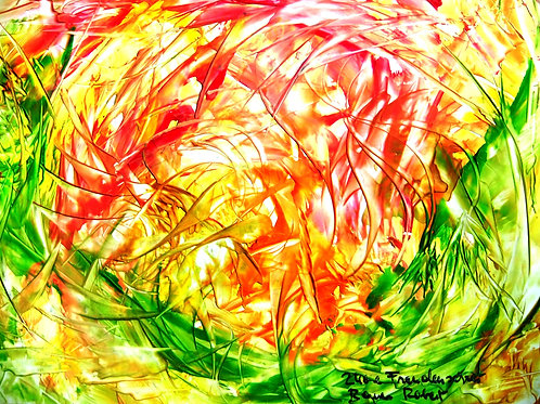 240e Freudenschrei, Original, abstraktes Bild, ca. 21 cm * 30 cm